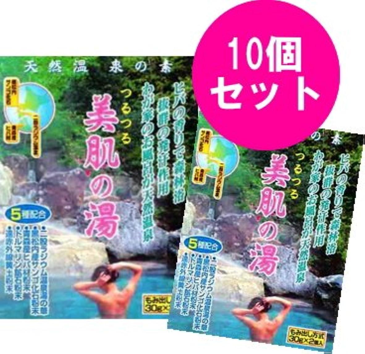 リビングルーム規模不正直つるつる 美肌の湯 1袋(30g×2個)×10袋セット
