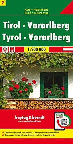 Tirol - Vorarlberg, Autokarte 1:200.000 (freytag & berndt Auto + Freizeitkarten)
