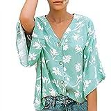 Berimaterry Camiseta Mujer Manga Corta Ropa Mujer Verano Blusa Sexy Rosa Mujer Fiesta Blusones Talla Grande Blusas Mujer Elegantes Tallas Grandes Verano Tops Cremallera Cuello en V Ropa Bohemi