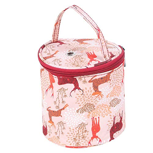 HERCHR Yarn Storage Bag, Portable Knitting Bag Sewing Supplies Organizer for Home Travel(Small Tote)