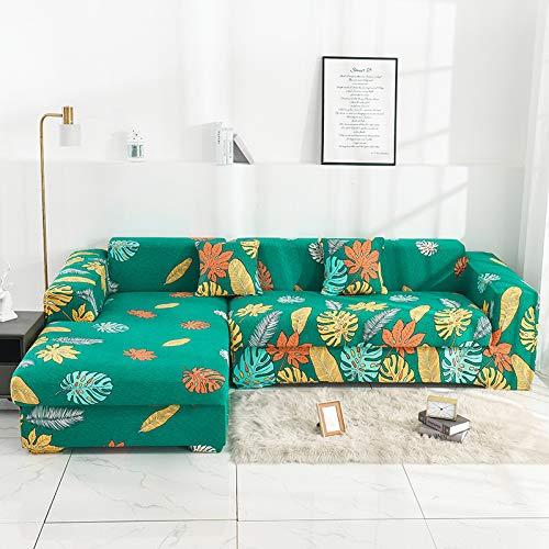 """HIKO23 Der elastische waschbare Sofabezug das ganze Paket Druckkomposition Chaise-Sofabezug Schonbezug, Textil, Blumen Traum, 3seat (75 \""""* 90\"""")"""