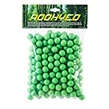 AOOHYEO Reusable Rubber Paintballs .50 Cal - Indoor Shooting Training Outdoor Self-Defense to Drive Away Animals Riot Balls 0.50 Caliber Solid Soft Recycle Paint Balls 200 Capsules