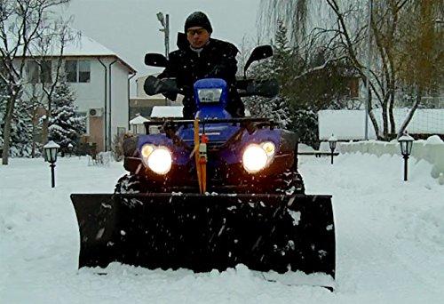 Sneeuwschild Quad ATV UTV reserveonderdeel voor/compatibel met grote voertuigen zoals Grizzly, King Quad, KVF, TRX, Polaris, Bombardier, enz, 140 cm breed universeel als sneeuwplug of zijschuiver