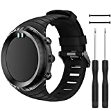 QGHXO Band for Suunto Core, Classic Replacement Soft Wristband with Metal Buckle for Suunto Core Smart Watch, Fits 5.5 inches-9.0 inches (140mm-230mm) Wrist