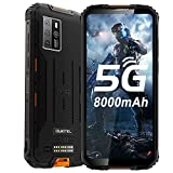 OUKITEL WP10 5G Rugged Smartphone Unlocked, 8000Mah Battery 18W Fast Charging, 6.67' FHD+ Screen, 8GB+128GB Sony 48MP AI Quad Camera, Waterproof Shockproof, NFC/GPS Dual SIM, Android 10 Unlocked Phone