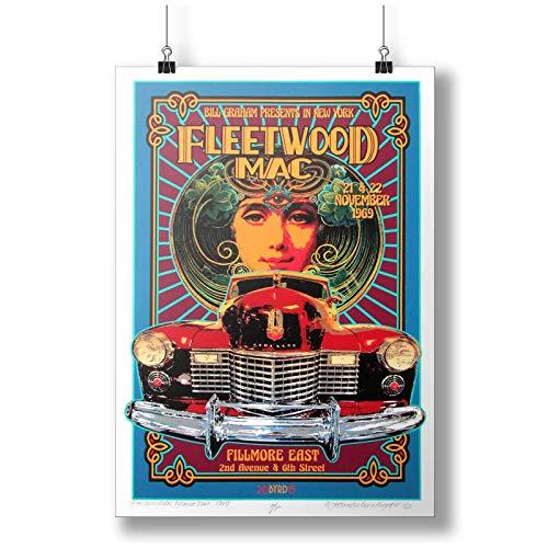 Fleetwood Mac In Concert 1969 At Fillmore East A0 A1 A2 A3 A4 Satin Foto Plakat P10168h