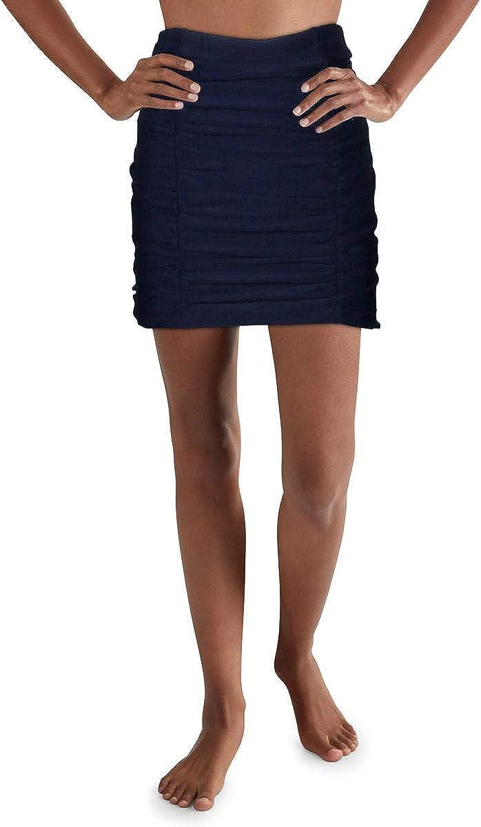 Raisins Womens Plus Costa Ruched Tummy Control Swim Skirt