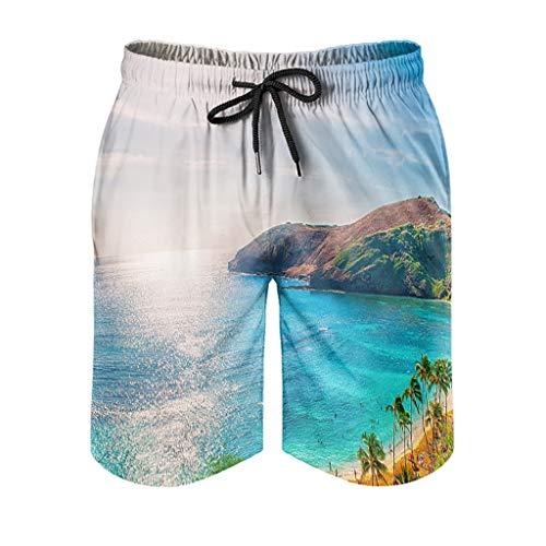 None Brand Original_Hawaii - Pantalones cortos de natación para hombre