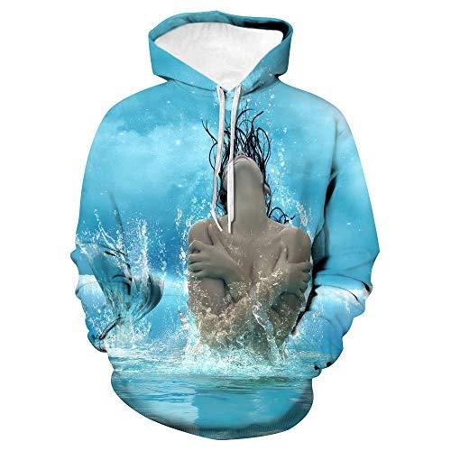 Kapuzenpullover Unisex 3D Druck Hoodies Mit Kängurutasche - Whirlpool Mädchen - Jungen Und Mädchen Erwachsene Kinder Cool Und Ungewöhnliche Mode Sweatshirts-XL