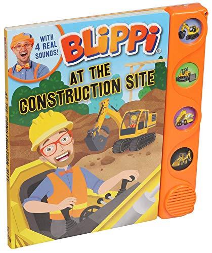 Blippi: At the Construction Site (4-Button Sound Books)