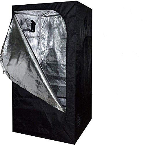 SavingPlus Indoor Grow Light Box Tent Aluminum lined Bud Dark Room for Hydroponic Fan 80X80X160CM