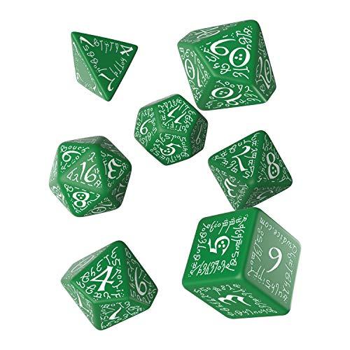 Grün-Weiß Elfen Würfel Set