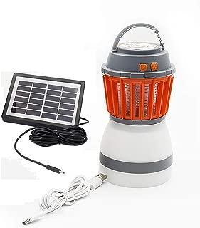 MAYSAK Camping Lantern Bug Zapper 2 in 1 Solar Camping Light UV LED Mosquito Killer Lamp Portable Flashlight USB Charging Night Light Waterproof for Outdoor Hiking Fishing