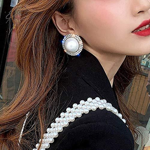 fxmimior, orecchini in stile bohémien, con perle grandi, in argento, leggeri, grandi, alla moda, per donne