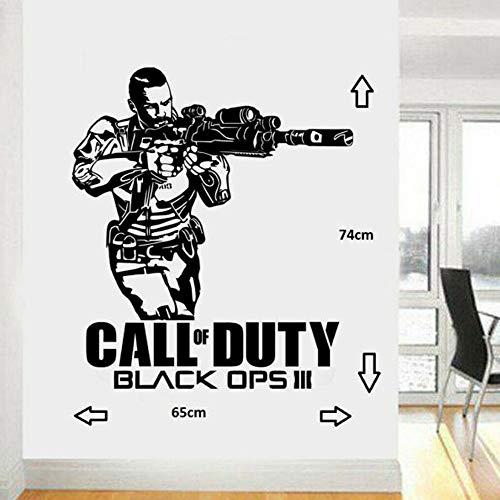 Call Of Duty Black Ops 3 Style Ps4 Xbox Teen Room Vinilo Wall Art Decal Sticker Soldado Decoración Del Hogar