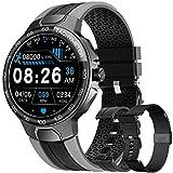 Smartwatch Relojes Inteligentes Hombre, Reloj Inteligente con Pulsómetro, Cronómetros, Calorías, Monitor de Sueño, Impermeable IP68 Reloj Deportivo para Android iOS (Negro)