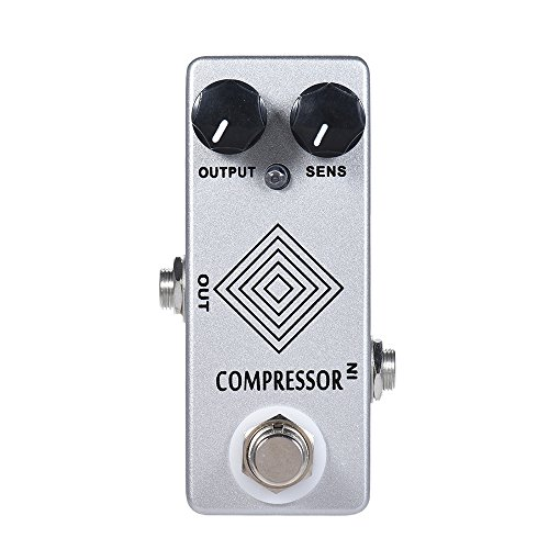 CAMOLA Kompressor Gitarre Pedal Gitarren Effekt Pedal Mini Kompressor Dynamischer Kompressor True Bypass