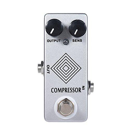 ammoon Gitarre Effektgerät Pedal MOSKY E-Gitarre Dynamic Compressor Effektpedal Vollmetallgehäuse True Bypass