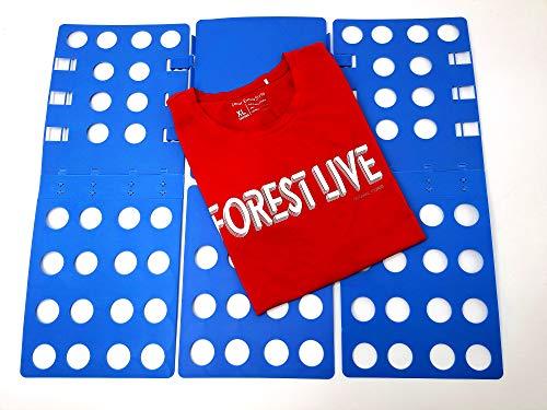 Nifogo Doblador de Ropa Doblador de Camisetas Camisas Ropa Adulto Infantil-Tabla para Doblar Ropa Azúl Plegar Camisetas Camisas Ropa Toallas