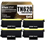 TN620/TN-620(4-Pack Black) Compatible Ink Cartridge Replacement for Brother HL-5240 HL-5250DN/DNT HL-5380DN MFC-8370 MFC-8480DN DCP-8060 Printers Toner Cartridge.