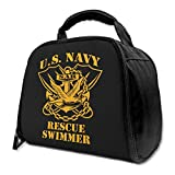 NE US Navy Rescue Swimmer Insulated Bag Lunch Bag Insulated Lunch Box Tote Bag Cooler Bag For Picnic Work