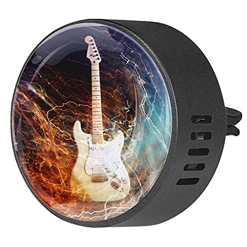 Difusor de coche para clips de ventilación de aceite esencial,guitarra electrica ,2...
