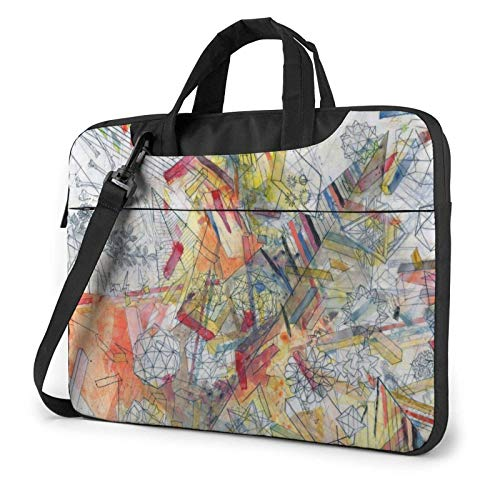 XCNGG Laptop Bag, Skull Painting Business Briefcase Protective Bag Cover for Ultrabook, MacBook, Asus, Samsung, Sony, Notebook 14 inch