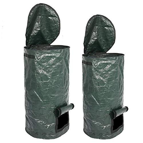 Best Deals! Yard Waste Bags Organic Waste Kitchen Fruit Compost Bag Cloth Planter Vegetable Grow Bag...