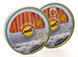 Hoya Santoña Anchoas del Cantábrico - Pack 2 latas de 170g/29 filetes (340g/58 filetes). Elaboración Artesana con bocartes del Cantábrico en Aceite de Oliva.