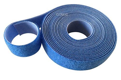VELCRO® Klettband mit ONE-WRAP® doppelseitig in Blau, 2 cm breit., blau, 25 Metres