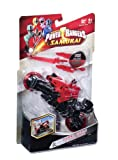 Power Bandai Rangers Super Samurai - Moto y Figura (10 cm), Color Rojo