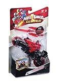 Power Bandai Rangers Super Samurai - Moto y Figura (10 cm), Color Rojo