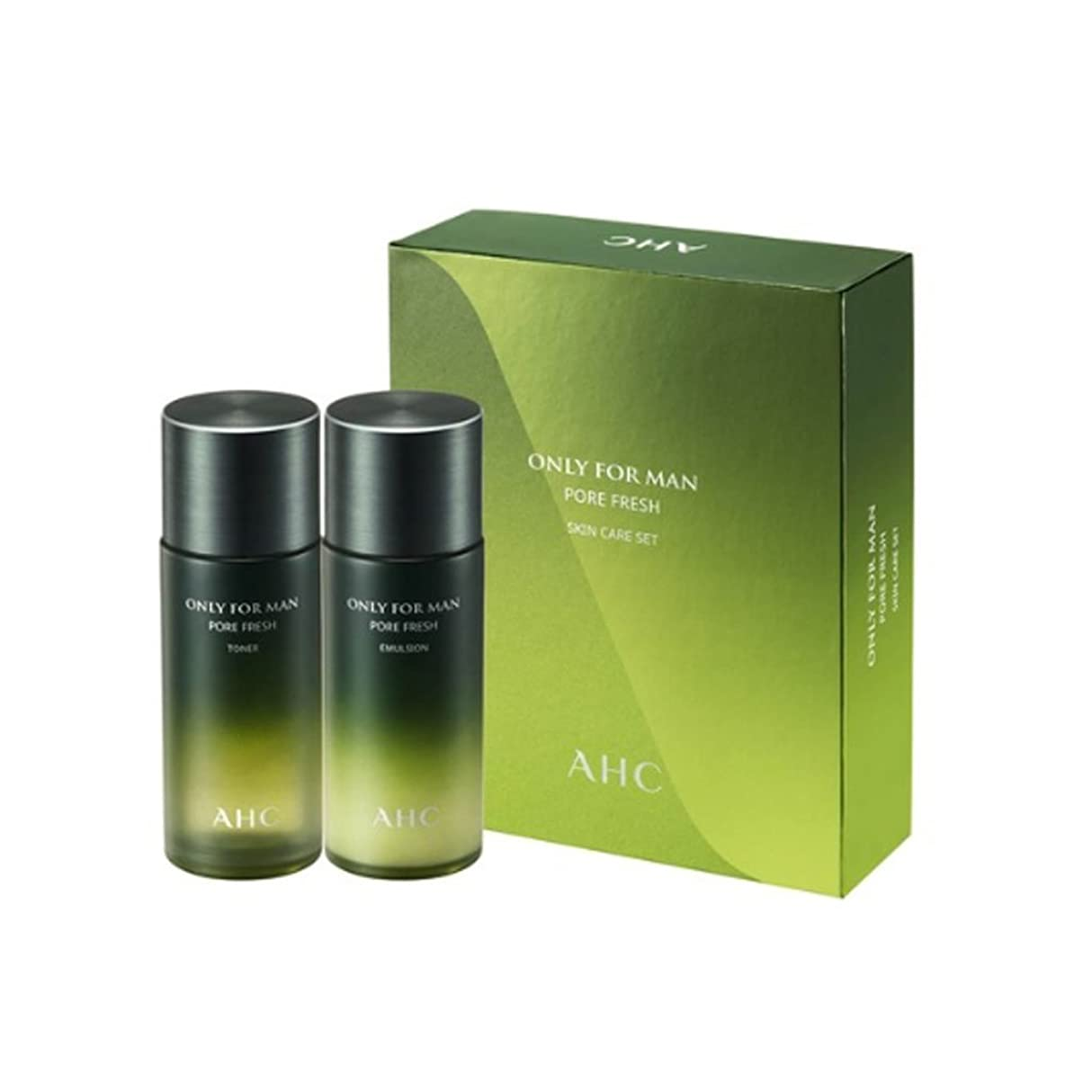 ナプキン適応的散逸AHCオンリーフォーマンフォア?フレッシュスキンケアセットトナー150ml + エマルション150ml 男性用化粧品、AHC Only For Man Pore Fresh Skincare Set Toner 150ml + Emulsion 150ml [並行輸入品]