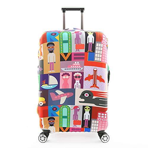 Gjcjy Reisaccessoires, koffer-afdekking, bescherming voor bagage, stofhoes, stretch-stoffen, kofferset