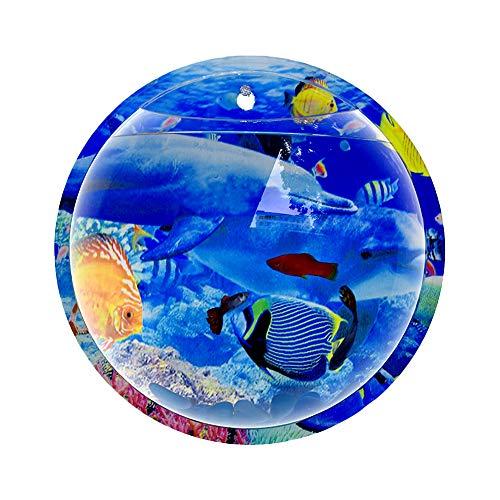 An der Wand befestigter Aquarium-Aquarium-Schüssel-Acrylwand-hängender Wasserkulturpflanzen-Vase (Delfin, Groß)