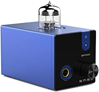 SMSL SP100 Vacuum Tube Preamplifier 6N3 Tube 5.5w Power Mini HiFi Desktop Amplifier(Blue)