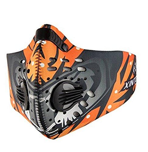 Fengyuan Sport ademhalingsmasker - Fitness Masker, Geactiveerde koolstofstofstofmasker voor Fietsen, Hardlopen, dagelijkse vrije tijd en andere buitensporten