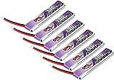 6pcs 380mAh HV 1S Lipo Batería FPV Batería 60C 120C 3.8V con Conector JST-PH 2.0 Powerwhoop para Tiny Whoop Drone Blade Inductrix