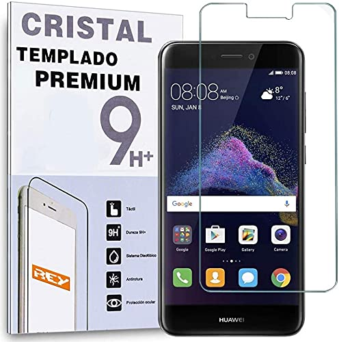 REY Protector de Pantalla para Huawei P9 Lite Cristal Vidrio Templado Premium