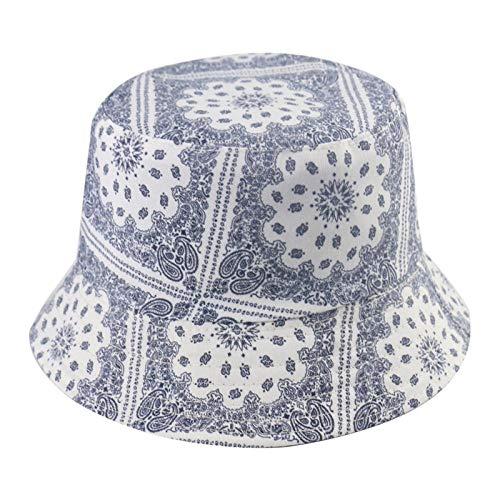 Bucket Hat Chapeau Hip Hop Reversible Noir Marine Gris Blanc Motif Chapeaux Bob Homme Casquettes Panama Blanc