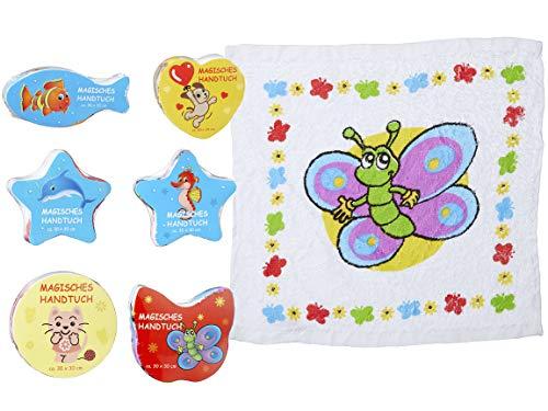 Bada Bing 6er Set Magisches Handtuch Zauberhandtuch 30 x 30 Tiere Haustiere Mädchen Junge Trend 99
