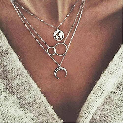 LJLLINGC Gold Color Choker Necklace For Women Long Moon Tassel Pendant Chain Necklaces & Pendants Laces Velvet Chokers Fashion Jewelry