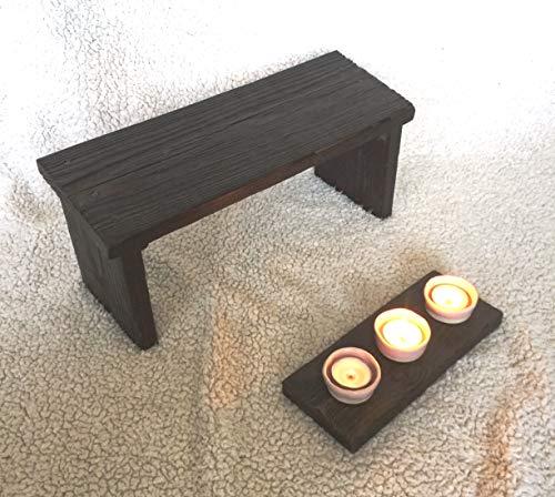 Banco meditación. Taburete de Madera para relajamiento y mindfullnes.