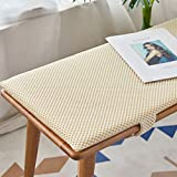 BoruisX Long Bench Cushion with Velcro, 2 or3 <span class='highlight'>Seat</span>er Bench Swing Mat Pad Replacement Mattress Breathable <span class='highlight'>Seat</span> Pad Indoor Outdoor,2.5cm Thick (150x35cm,Beige)