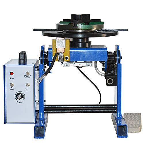 "TECHTONGDA 50KG Rotary Welding Positioner 0-90° Turntable Table 110V Positioning Machine Equipment with 7.87"" 200mm Chuck"