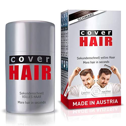 COVER HAIR Streuhaar, Schütthaar zur Haarverdichtung und Ansatzkaschierung in schwarz, 14g