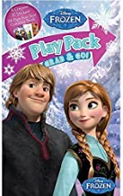 Disney Frozen Grab and Go Play Pack! (4 Crayons, 25 Stickers, 24-Page Coloring Book.) Featuring Elsa, Anna, Olaf the Snowman, Sven the Reindeer, Prince Hans, and Kristoff! Great gift idea for children - whether it's for play time or a birthay or a holiday such as Easter or Christmas. The kids will love this activity set / playset and it will keep them busy for hours!