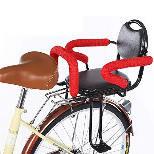 CRMY 50 kg Asiento de Bicicleta para niños Asiento Trasero de Bicicleta para niños Asiento de Bicicleta Trasero Silla Protectora para niños con Pedal de pasamanos