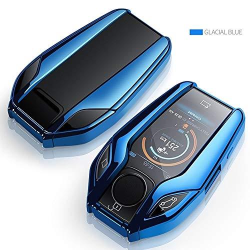 JIERS Para BMW 5 7 Series G11 G12 G30 G31 G32 I8 I12 I15 G01 X3 G02 X4 G05 X5 G07 X7, TPU Car Full Key Case LED Display Key Cover Case