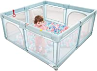WJSW Baby Playpen Crawling Outdoor Family Room Divider Safety Fence Household Protective Fence for Kids/Toddler/Children Preschool Toys - Green - 5